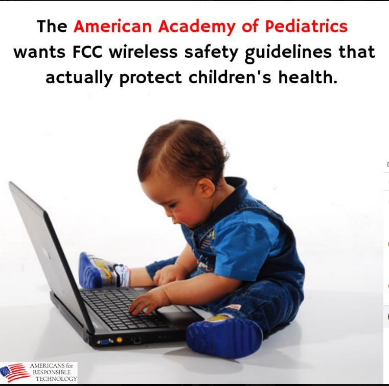 Americká akademie pediatrů chce směrnice o bezpečnosti bezdrátové komunikace FCC, která by skutečně podporovala zdraví dětí