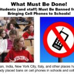 Students and Staff are banned from bringing Cell Phones to Schools