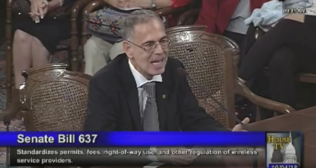 Dr. Paul Heroux Tesfifies at Michigan's 5G Small Cell Tower Legislation - 2018
