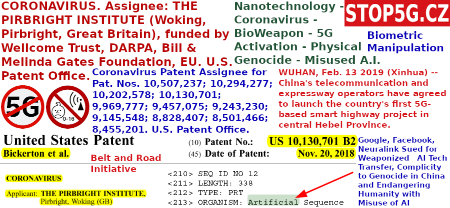 Nanotechnology – Coronavirus – BioWeapon – Activation by 5G – Physical Genocide – Misused A.I.