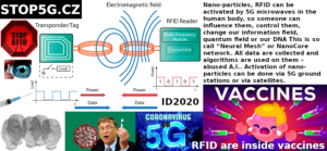 Vaccines - 5G - RFID - Transponder - Tag - Electromagnetic field - People scanning - ID2020 - Data - Power - Stop5G