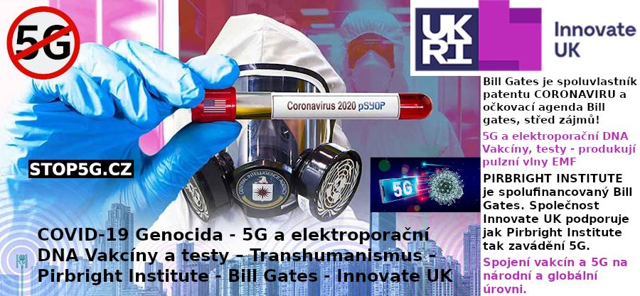 5G a Elektroporační DNA Vakcíny a Testy – Transhumanismus – Pirbright Institute – Bill Gates – Innovate UK – COVID-19 Genocida