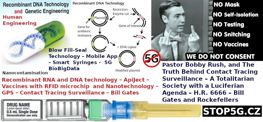 Recombinant RNA and DNA technology – ApiJect – Vaccines with RFID microchip and Nanotechnology – GPS – Contact Tracing Surveillance – Bill Gates – 5G BioBigData