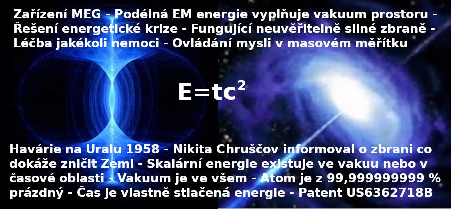 Zařízení MEG – Podélná Skalární Energie vyplňuje vakuum prostoru – Patent US6362718B1
