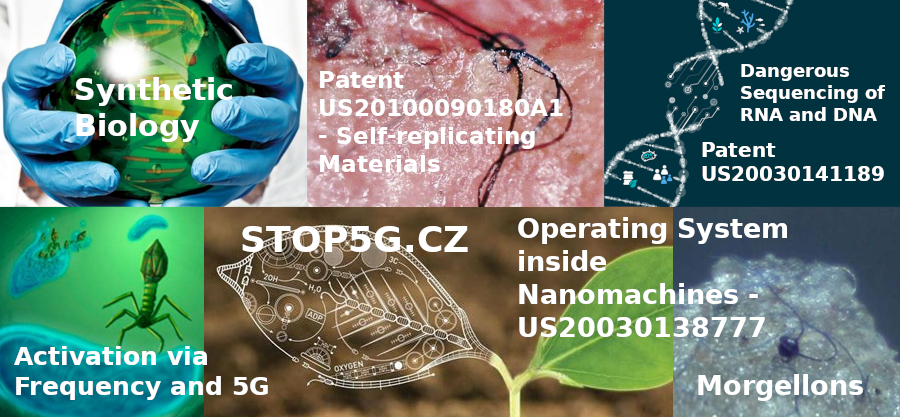 Synthetic Biology – Morgellons – Patent US20030141189 – Dangerous Sequencing of RNA and DNA – Patent US20100090180A1 – Self-replicating Materials – Operating System inside Nanomachines – US20030138777 – Activation via Frequency and 5G