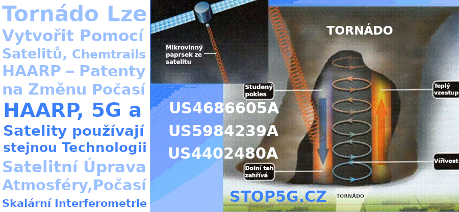 Tornádo Vytvořite Pomocí Satelitů – Chemtrails – HAARP – Patenty na Změnu Počasí – Satelitní Úprava Atmosféry – Umělé Tornádo